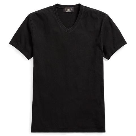 Camiseta De Punto Jersey De Algodón Teñida En Índigo de Ralph Lauren en 21 Buttons