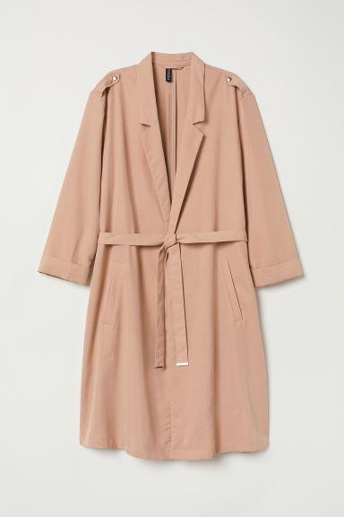 H & M - Trench-coat En Modal Mélangé - Orange