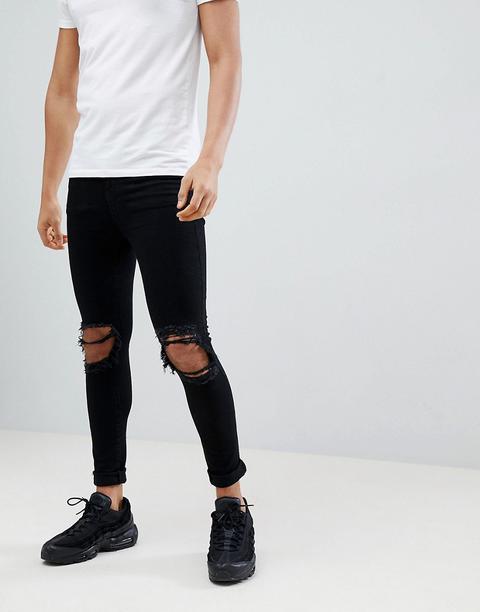 c2cdfa111257 Jaded London - Jeans Super Skinny Strappati Neri - Nero de ASOS en 21  Buttons
