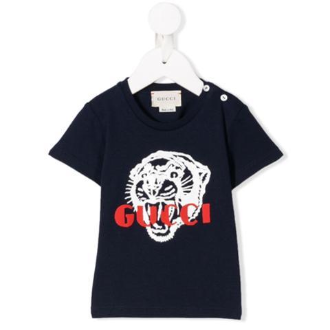Gucci Kids Camiseta Con Estampado De Tigre - Azul de Farfetch en 21 Buttons