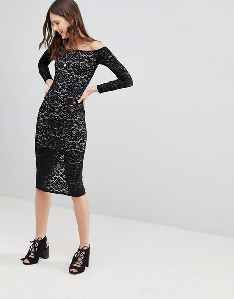 Vestido De Encaje De Glamorous