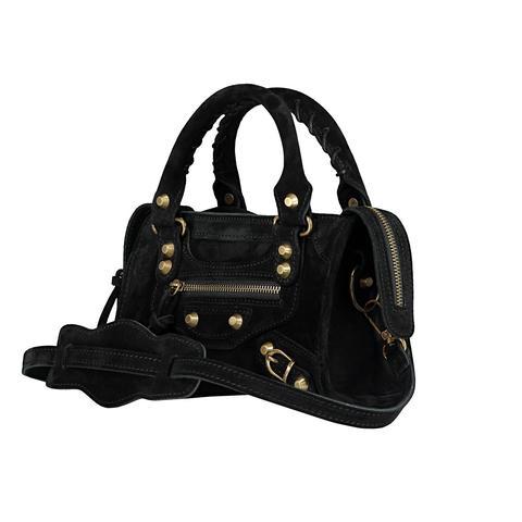 City Bag Mini Suede Black