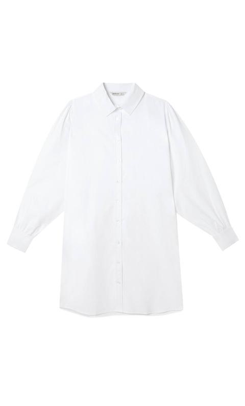 Camisa Larga Oversize Popelin