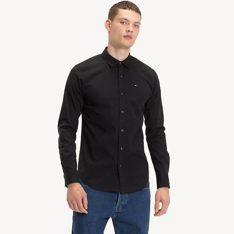 Camisa Elástica De Corte Slim de Tommy Hilfiger en 21 Buttons