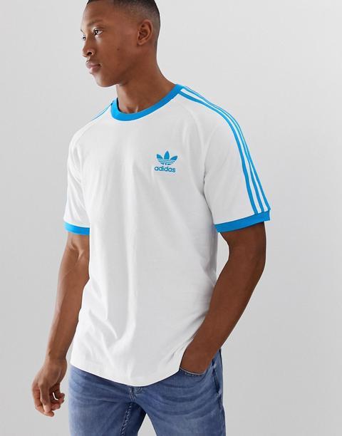 Heredero picar Derritiendo  Camiseta Blanca Y Azul California De Adidas Originals-blanco from ASOS on  21 Buttons