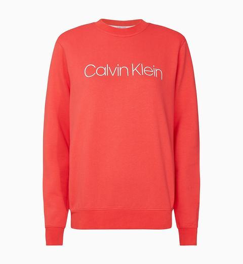 Sudadera De Algodón Orgánico Con Logo de Calvin Klein en 21 Buttons