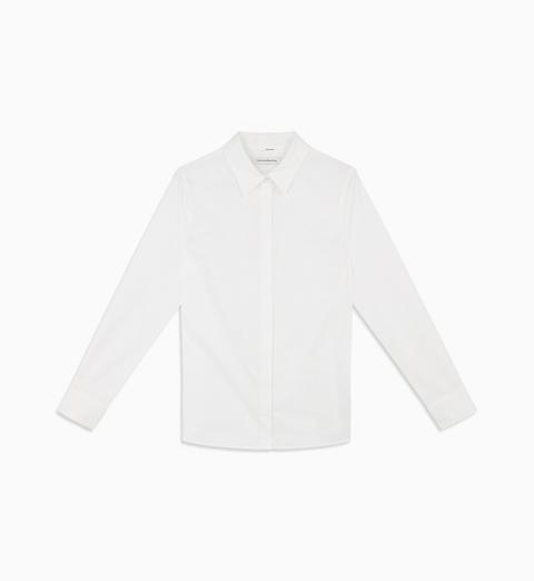 Camisa Slim De Algodón Elástico de Calvin Klein en 21 Buttons