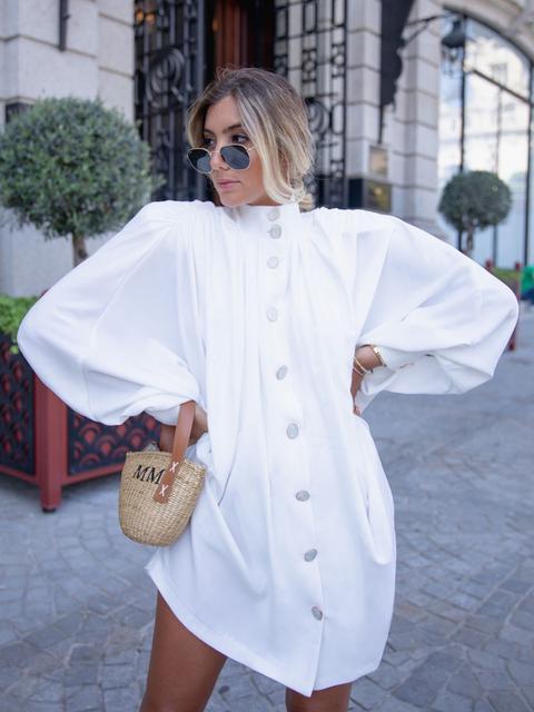 Vestido Camisero Blanco de KAOA en 21 Buttons