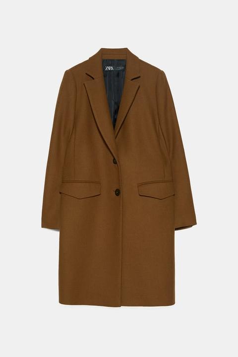 Abrigo Masculino de Zara en 21 Buttons
