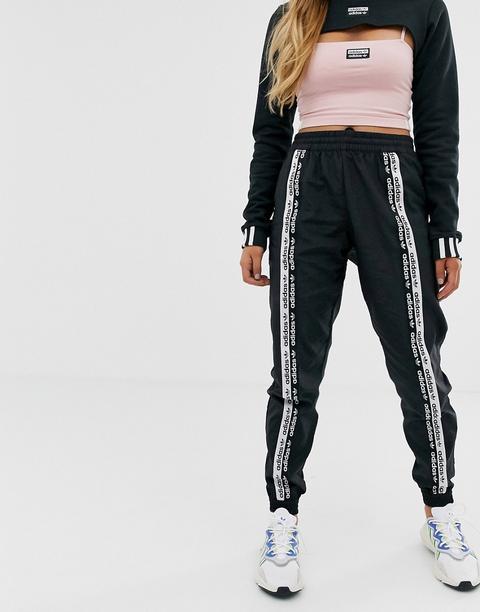 Pantalones De Chándal Negros Con Cinta Ryv De Adidas Originals