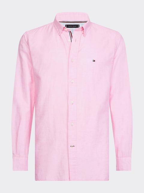 Camisa En Sarga De Lino Y Algodón de Tommy Hilfiger en 21 Buttons