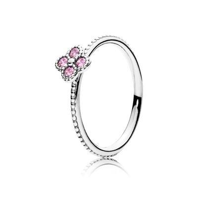 anello pandora fiore rosa