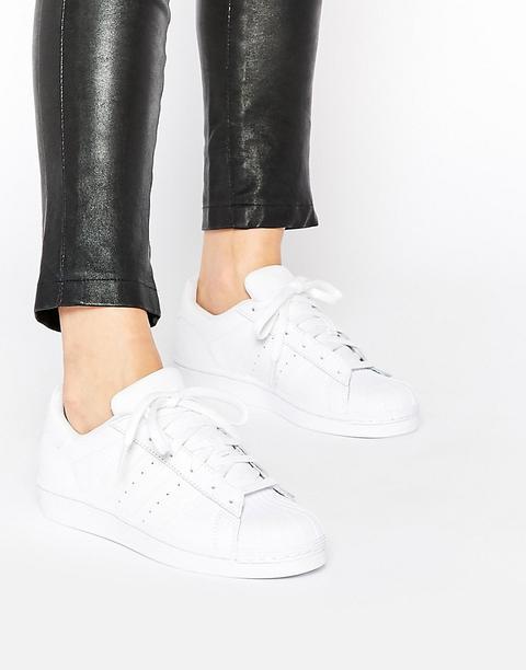 Adidas Originals - Superstar Foundation - Scarpe Da Ginnastica Unisex Bianche - Bianco