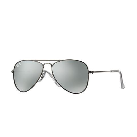 Aviator Junior Unisex Sunglasses Lentes: Gris, Montura: Gunmetal de Ray-Ban en 21 Buttons