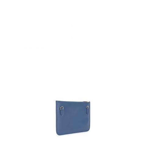Bandolera Mini Enara De Piel En Color Azul