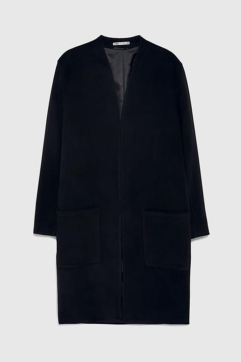 Abrigo Sin Solapa de Zara en 21 Buttons