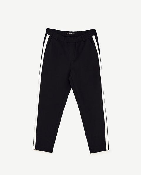 Pantaloni Chino Fascia Laterale