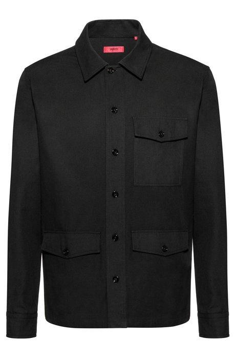 Camisa Oversized Fit Con Estampado De Hugo Berlin En La Espalda de Hugo Boss en 21 Buttons