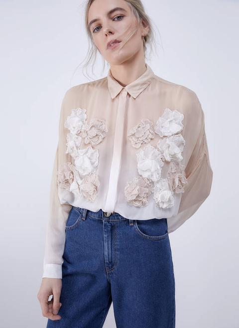 Camisa Flors Pastel de Uterqüe en 21 Buttons