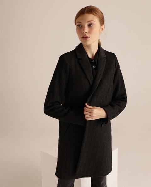Easy Wear - Abrigo De Mujer Espiga Con Bolsillos. de Easy Wear en 21 Buttons