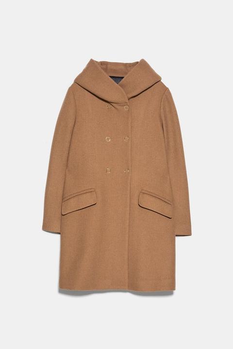 Abrigo Cuello Envolvente de Zara en 21 Buttons