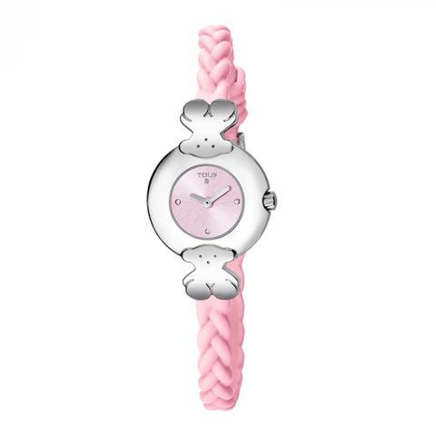 Reloj Très Chic De Acero Con Correa De Silicona Rosa de Tous en 21 Buttons