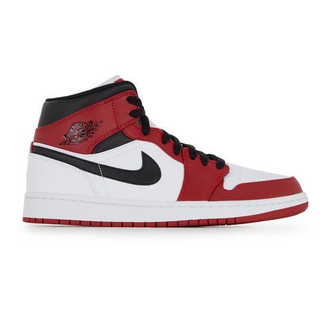 Air Jordan 1 Mid Jordan Blanc/rouge/noir 44 Male from Courir on 21 ...