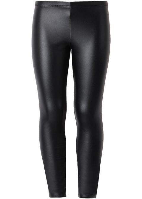 Warme Leder-effekt-leggings