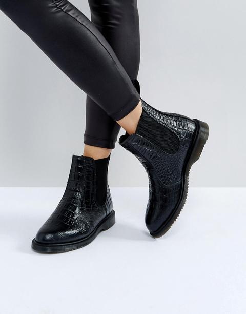 Dr Martens Kensington Flora Black Croco Chelsea Boots - Black from ASOS on 21 Buttons