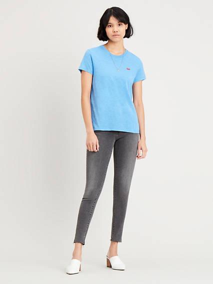 Mile High Super Skinny Jeans Black / Black de Levi's en 21 Buttons