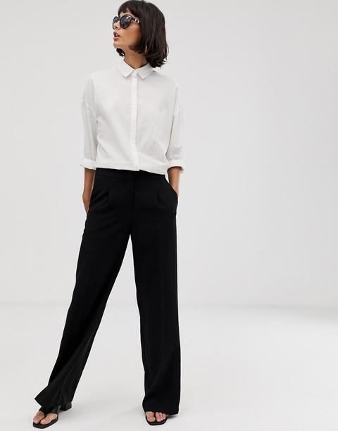 Pantalones De Pernera Ancha De Selected Femme-negro de ASOS en 21 Buttons