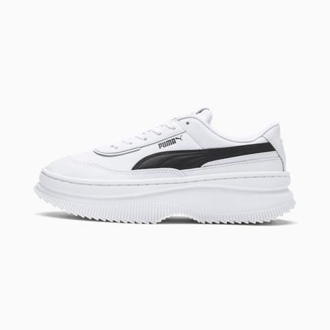 Zapatillas Para Mujer Deva Leather, Blanco/negro, Talla 35,5 | Puma Mujeres