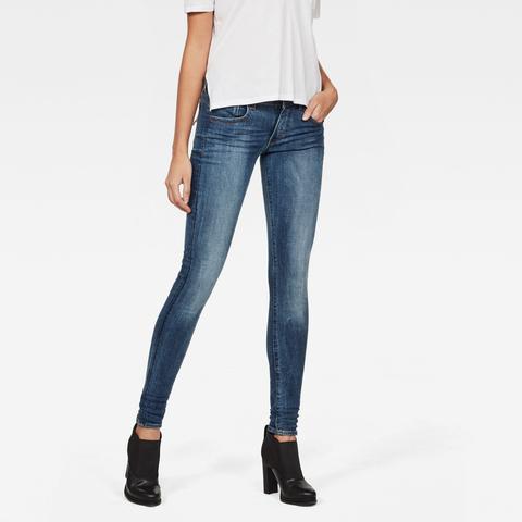 Lynn D-mid Waist Super Skinny Jeans de G-STAR en 21 Buttons