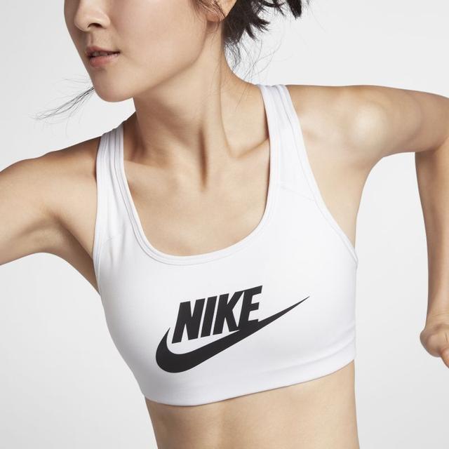 mammalian Refurbish Nonsense  Bra A Sostegno Medio Nike Classic Swoosh Futura - Donna - Bianco from Nike  on 21 Buttons