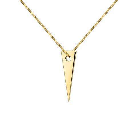 Colgante Triángulo Plata Recubierta Oro