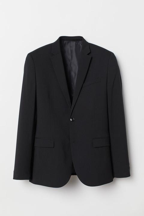 Americana Skinny Fit - Negro de H&M en 21 Buttons