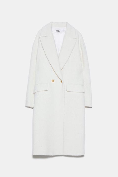 Abrigo Cruzado Estructura de Zara en 21 Buttons