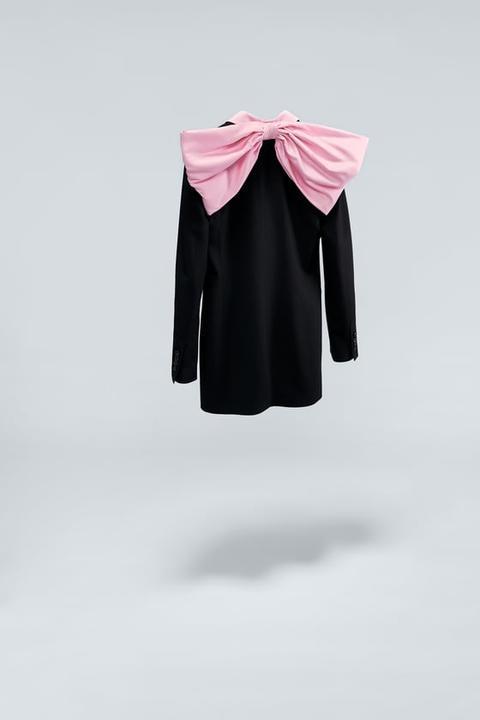 Blazer Vestido Lazo Combinado de Zara en 21 Buttons