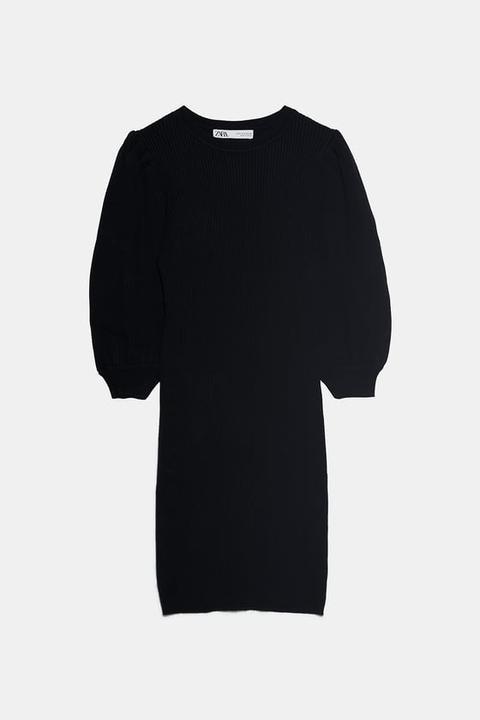 Vestido Manga Abullonada