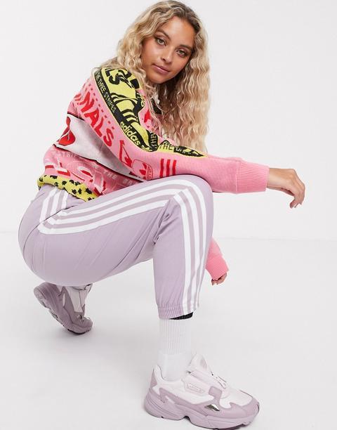 adidas pastel rose jumper