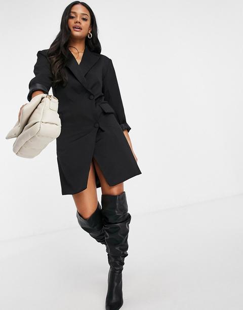 Naanaa - Robe Façon Blazer - Noir