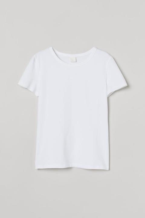 Camiseta De Punto - Blanco