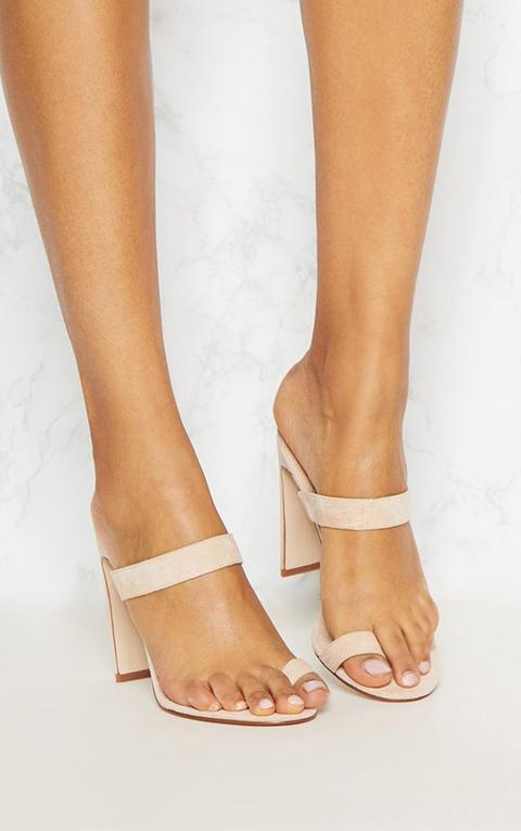 Nude Flat Heel Toe Loop Sandal from