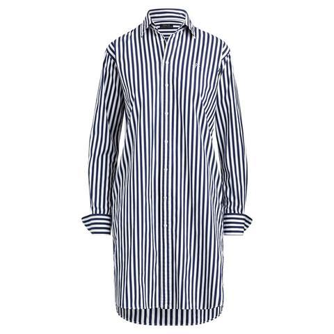 Vestido Camisero De Algodón A Rayas de Ralph Lauren en 21 Buttons