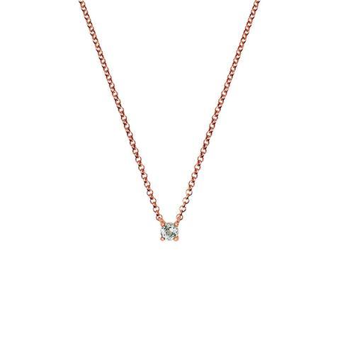 Colgante Cuarzo Pequeño Plata Recubierta Oro Rosa de Aristocrazy en 21 Buttons