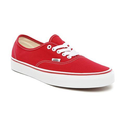 vans red authentic shoes