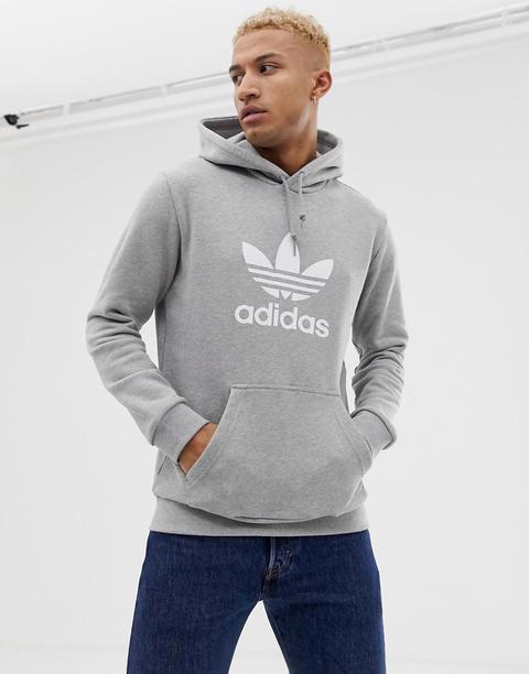 Sudadera Gris Con Capucha Dt7963 Y Logo De Trébol De Adidas Originals de ASOS en 21 Buttons