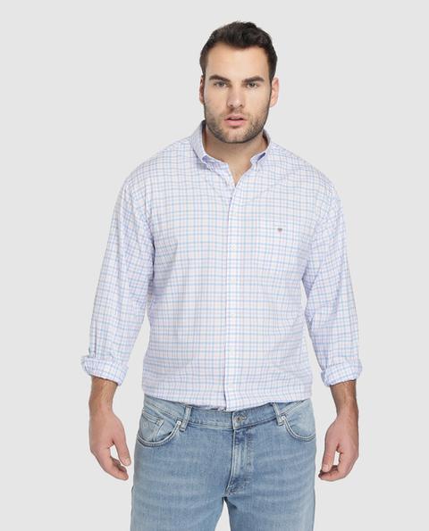 Gant Camisa De Hombre Regular De Cuadros Azul Tallas Grandes De El Corte Ingles En 21 Buttons
