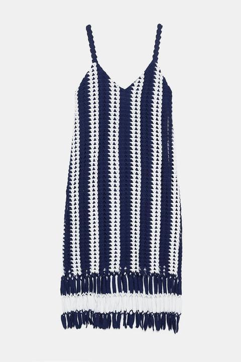 Vestido Crochet Rayas
