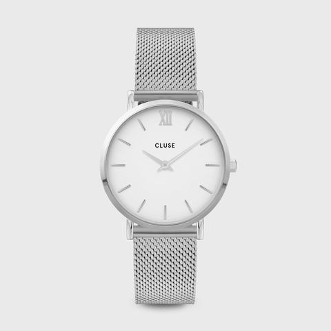 Minuit Mesh Silver White/silver de Cluse en 21 Buttons